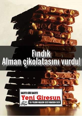 FINDIK ALMAN ÇİKOLATASINI VURDU! / YENİ GİRESUN GAZETESİ