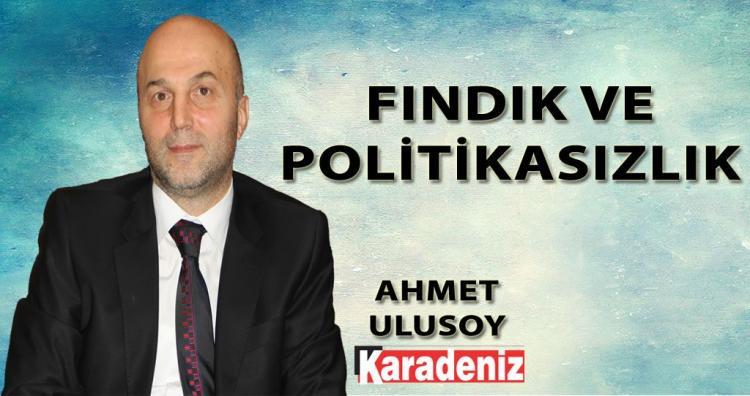 FINDIK VE POLİTİKASIZLIK / AHMET ULUSOY / KARADENİZ GAZETESİ