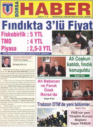 TEMMUZ-AĞUSTOS -EYLÜL 2005