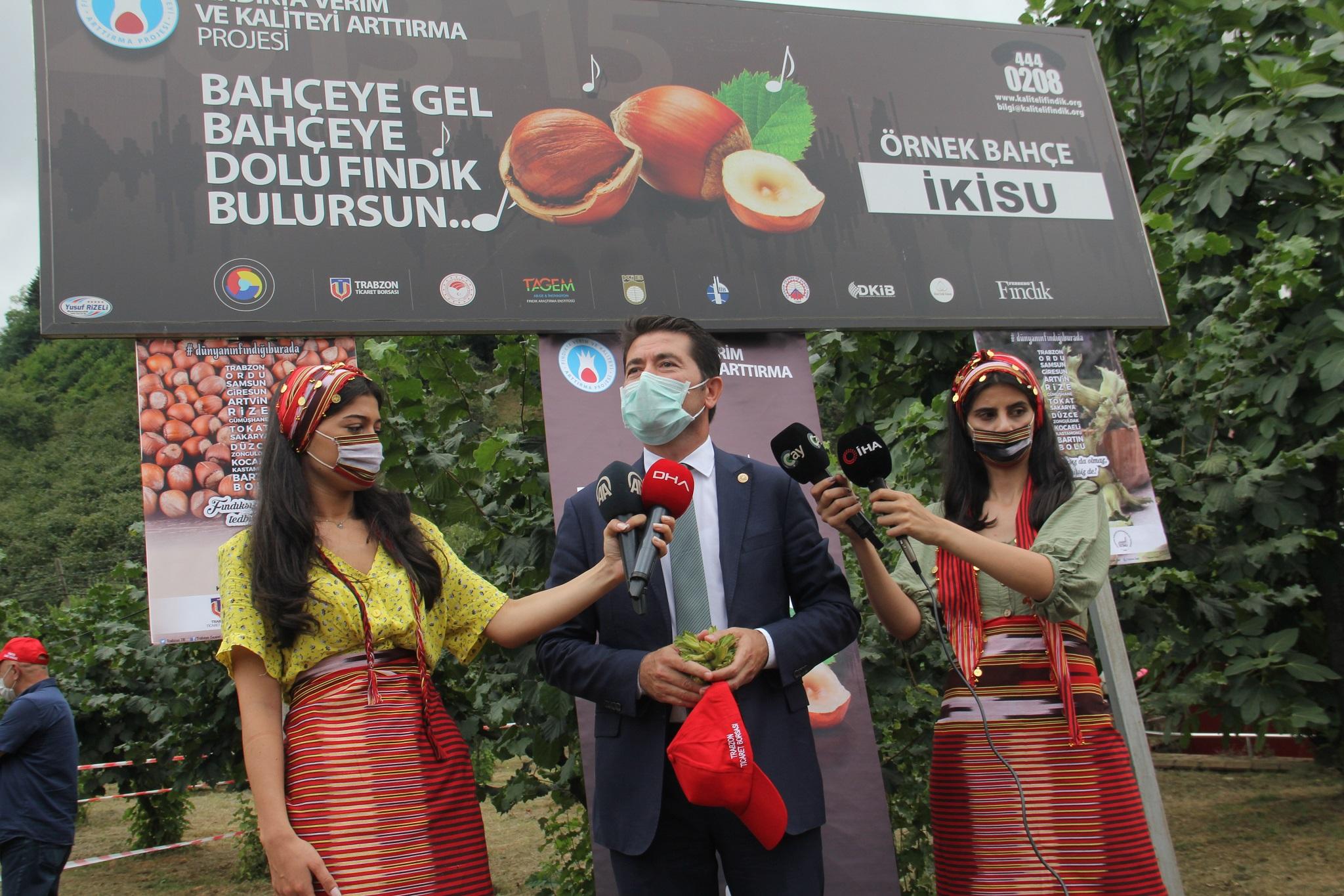 Milletvekili Ahmet Kaya'dan örnek fındık bahçesine övgü