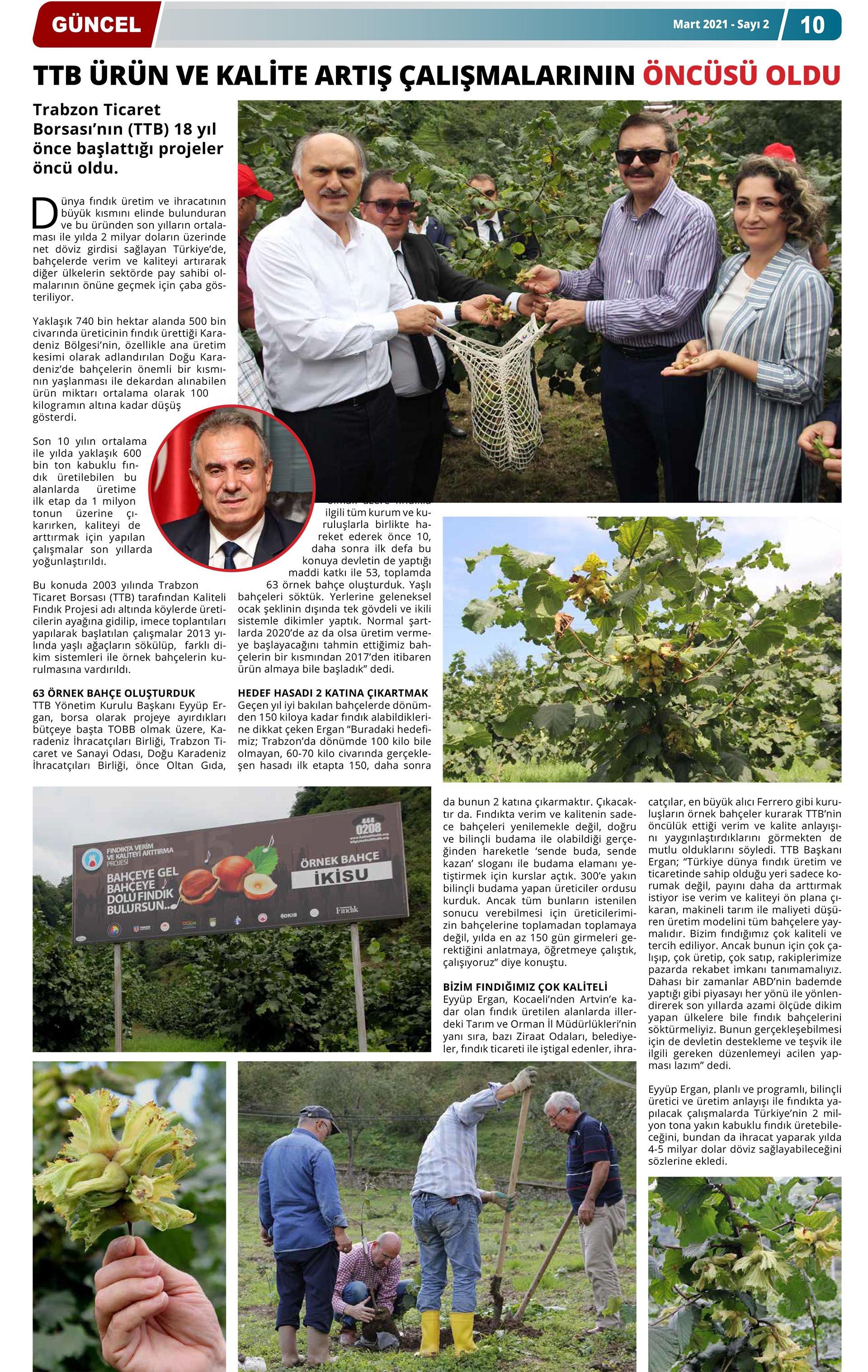 Hürriyet Karadeniz Gazetesi Mart 2021