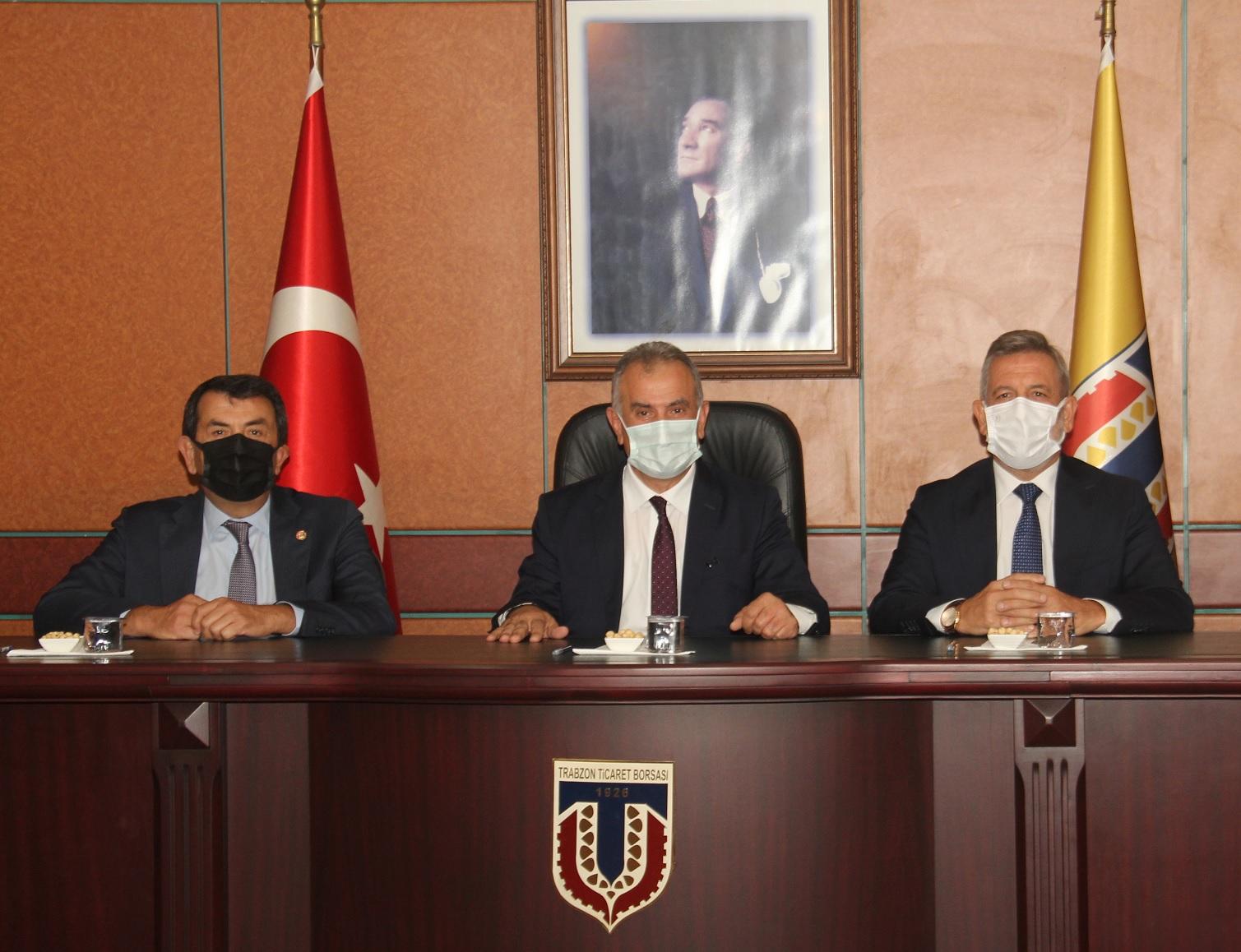 Bursa TSO Heyeti Trabzon Ticaret Borsası'nda…